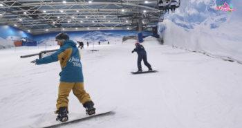 técnica snowboard. giro corto de camino a la cima tv .
